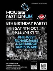 HouseNationUK 8th Birthday LIVE @ The Sun Lounge, Derby!
