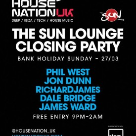 HouseNationUK – Sun Lounge Closing Party Mix